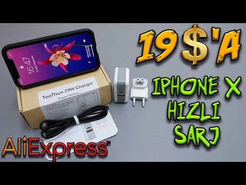 19 $'a Iphone X Hızlı Şarj Adaptörü Olur Mu ? Aliexpress'ten Aldık.