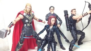 Thor Bruce Banner Black Widow Hawkeye Marvel Legends 4 Pack Amazon Exclusive Toy Review