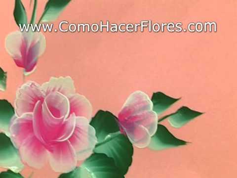 C mo pintar flores clase gratis youtube - Aprender a pintar en madera ...