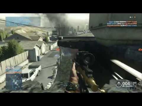 Battlefield Hardline GOLD .300 Knockout Sniper Game play