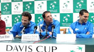 Israel Davis Cup press conference with Andy Ram, Jonathan Erlich and Eyal Ran part 1
