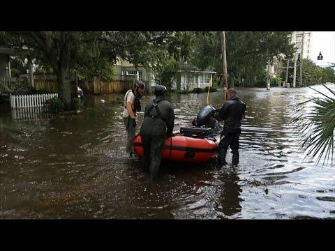 Rescue Crews Battle Record Jacksonville Flooding