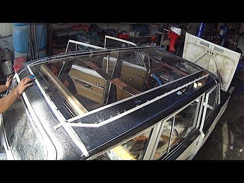 Как сделать большую панорамную крышу за 4000 рублей самому