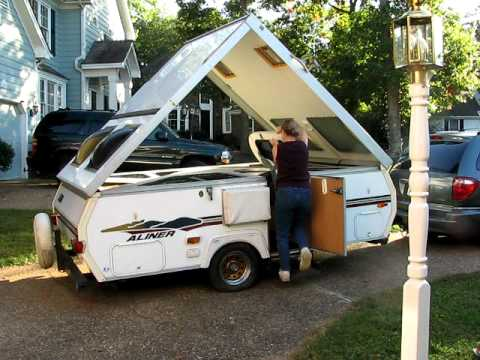 aliner folding camper easy take down demonstration