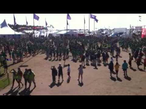 Irish flashmob at World Scout Jamboree
