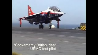 VAAC Harrier 2007 - World's First SRVL (Shipborne Rolling Vertical Landing)