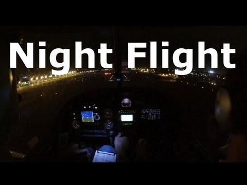 Student Pilot - First Night Flight (short version)