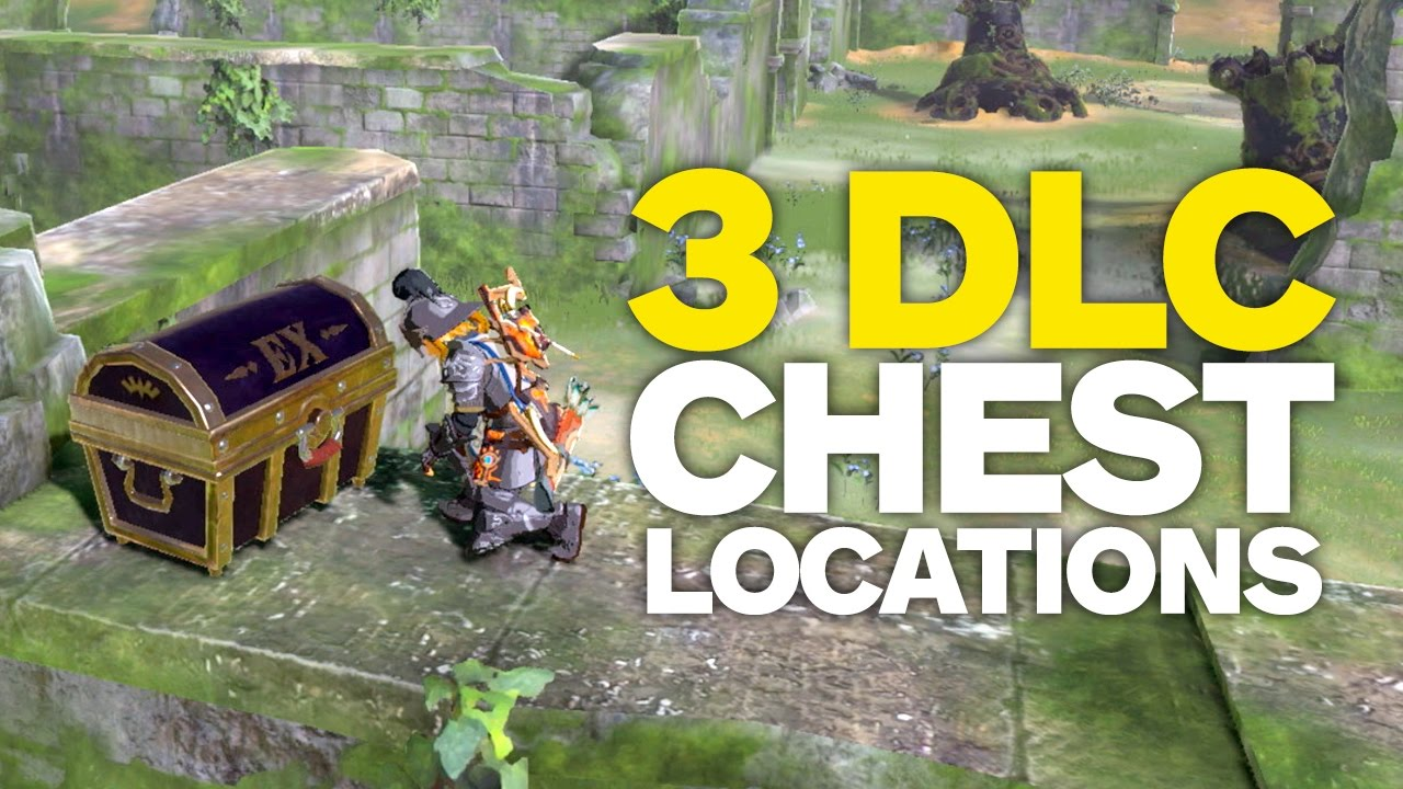 All Dlc Chest Locations In Zelda Breath Of The Wild Youtube