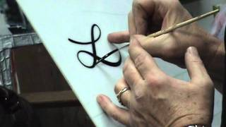 Steve Kafka's lettering demo with #4 Liner brush