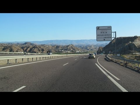 Spain: A-92 through the Tabernas Desert (Almería - Gérgal)
