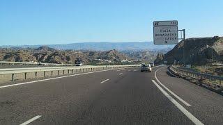 Spain: A-92 Through The Tabernas Desert (Almería - Gérgal)