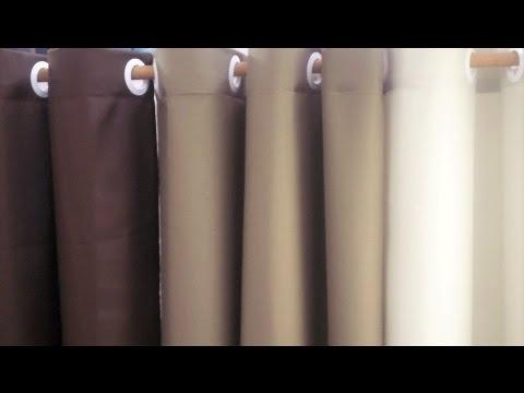 How To Make Eyelet Curtain Diy Youtube