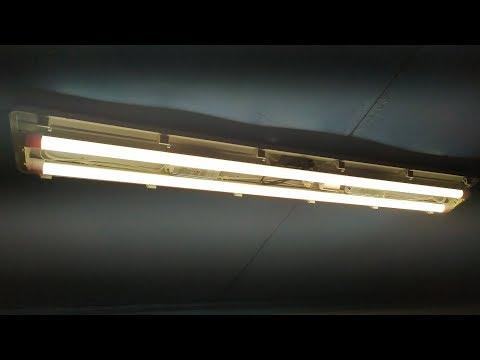 Переделка светильника дневного света под светодиодные лампы