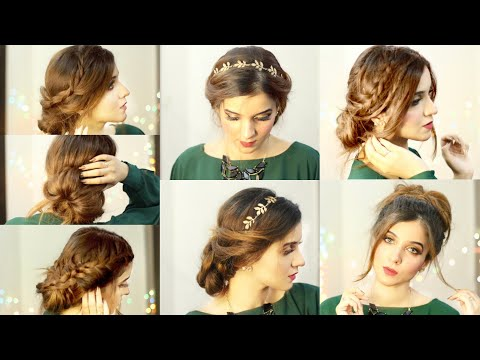 6-amazing-and-easy-bun-styles-step-by-step|-buns-for-wedding-party-uni-office|-quick-hairstyles-best