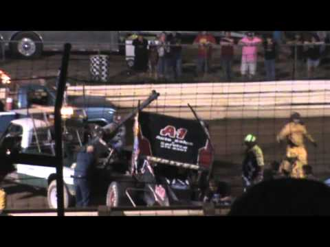 Selinsgrove Speedway 410 Sprint Car Highlights 9-19-15