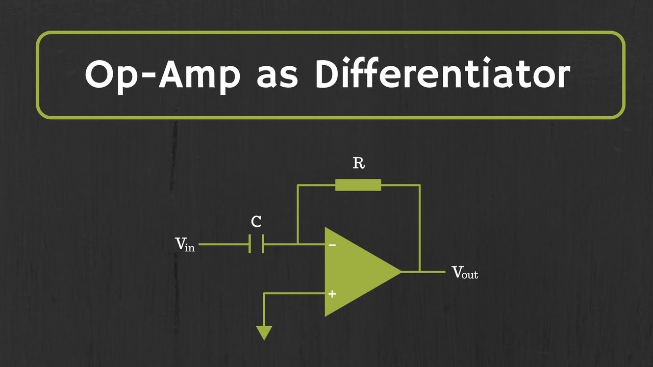 Op-Amp Differentiator (with Derivation and Examples)