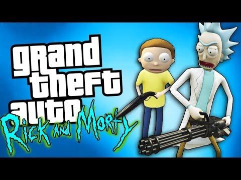 RICK And MORTY FRITANDO EM LOS SANTOS - GTA 5 Mods Inacreditáveis EP.1