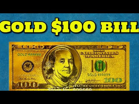$100 Bill Gold