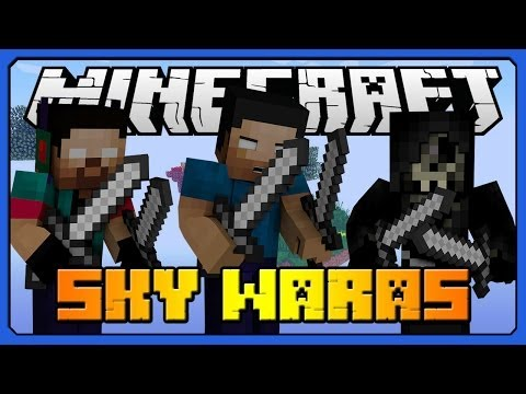 "Minecraft: SKYWARS Mini-Game ""HOW TO FAIL AT SKYWARS"" w/ Taz, Noah & BliTzz - 동영상"