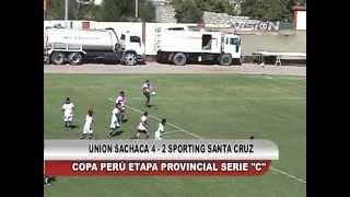 U. SACHACA 4 - 2 SANTA CRUZ COPA PERU ETAPA PROVINCIAL - Visión Deportiva 2013 TVT Canal 39
