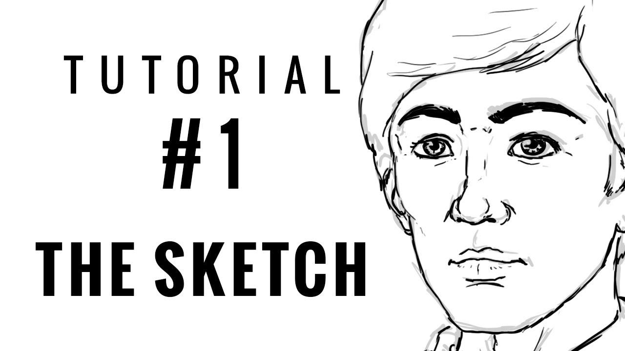 Beginners digital art tutorial 01 the sketch youtube