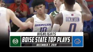 Boise State Basketball Top Plays vs. Colorado State (2019-20) | Stadium