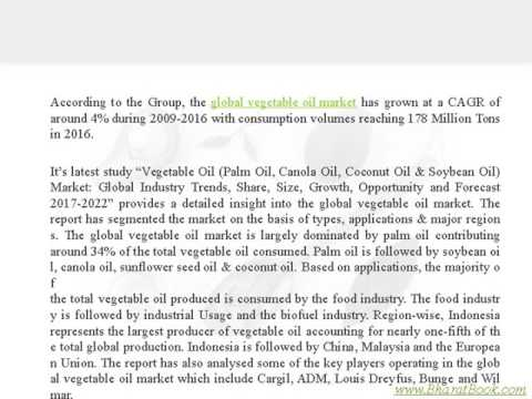 Global Vegetable Oil Market Industry