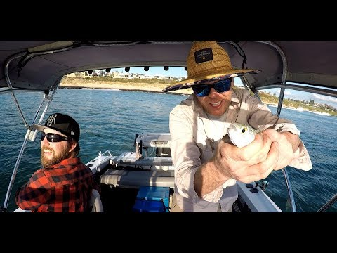 Herring Fishing For Pink Snapper Bait Off Bunbury, Western Australia