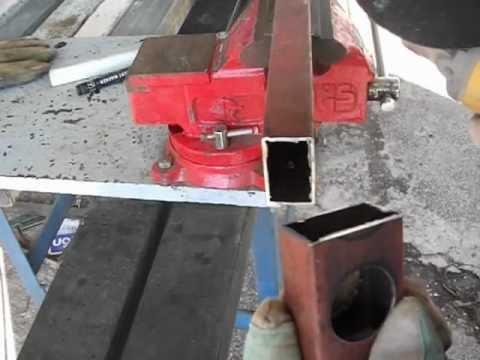 Corte de tubo de hierro cuadrado o rect ngular con for Uniones para perfiles cuadrados de aluminio