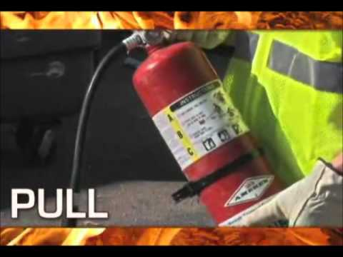 Fire extinguisher PASS System