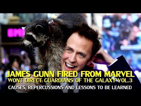 James Gunn Fired from Marvel By Disney over Tweets, won't direct Guardians of the Galaxy Vol. 3
