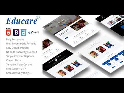 Educare - Responsive Education Landing Template | Themeforest Website Templates and Themes