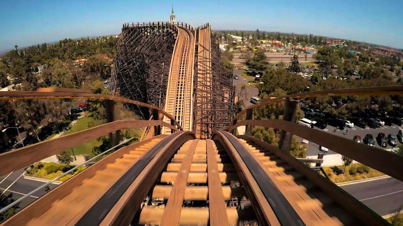 GhostRider Wooden Roller Coaster POV HD 1080p Knott's ... |Knotts Berry Farm Coasters