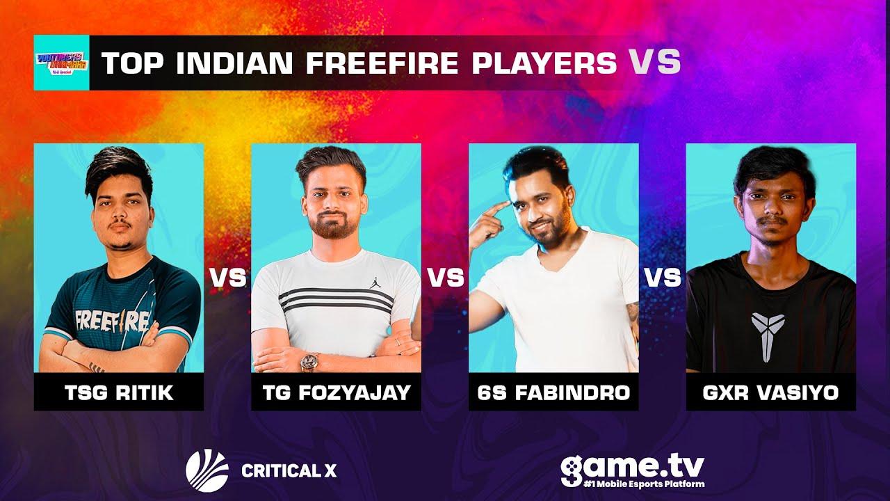 Top Indian Free Fire Players vs. Gxr-Vasiyo, TG-FozyAjay, TSG-Legend & More   Holi Event Best Plays