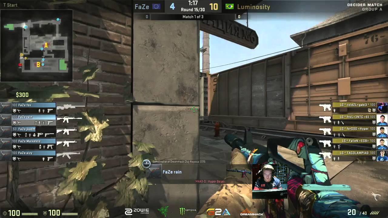CS:GO - Rain 4k spraydown + ace [DreamHack ZOWIE Open Leipzig 2016]  720p60fps