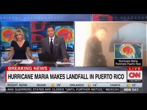 Live coverage of destruction as Hurricane Maria makes landfall in Puerto Rico