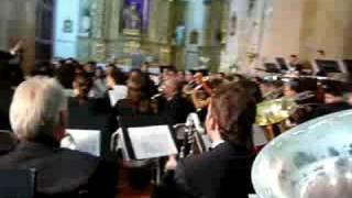 Pasodoble DAUDER - BANDA DEL CONSERVATORIO PROFESIONAL DE MUSICA MANUEL DE FALLA de ALCORCON - Fuente de Pedro Naharro ( CUENCA ) 23/09/08