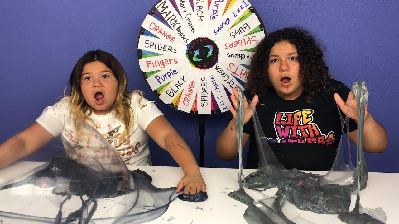 Slime Master Mary And Izzy: Mystery Wheel Of Slime Challenge Challenge Halloween