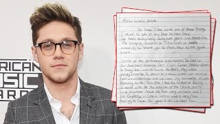 Niall Horan Pens Letter To Fans - Plans To DISAPPEAR?