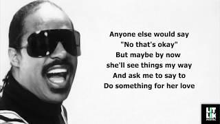 Stevie Wonder - All Day Sucker (Lyrics)