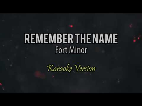 Fort Minor -  Remember The Name (Karaoke Version) HD