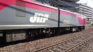 EH500-11牽引 武蔵野線貨物列車が西国分寺駅を出発。