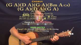 rock on tucker beathard guitar lesson chord chart d bm g a