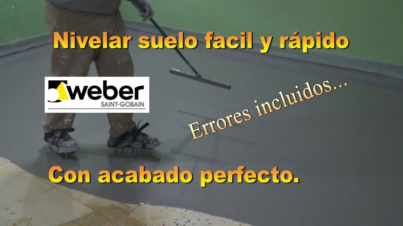Mortero Autonivelante Weber Floor Top. Un acabado profesional de manera sencilla.