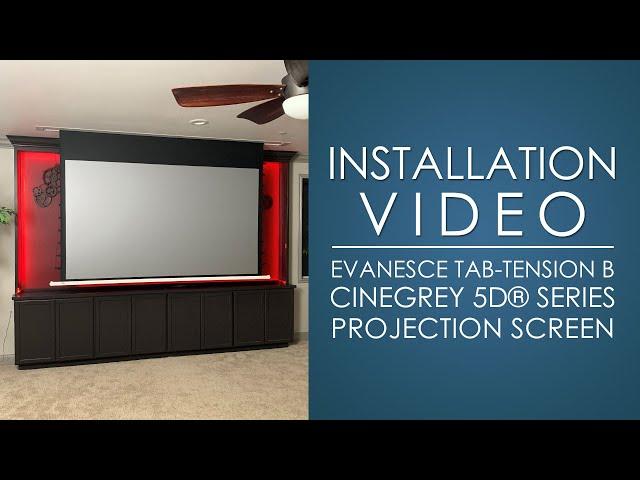 Elite Screens In-Ceiling ALR/CLR Evanesce Tab-Tension B CineGrey 5D® Screen Installation Video