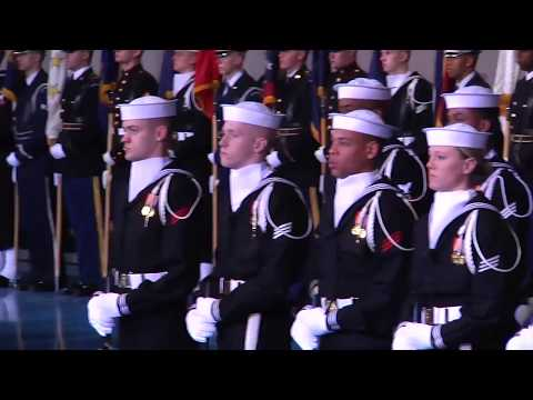 Secretary of Defense Chuck Hagel Armed Forces Farewell Tribute