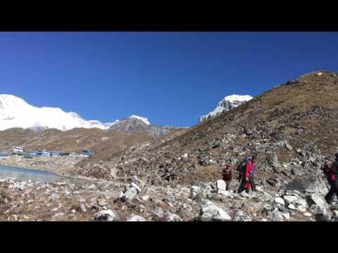 Trekking in gokyo lake Everest