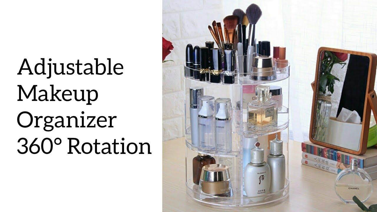 Unboxing Installation Adjustable Makeup Organizer 360 Rotation Youtube
