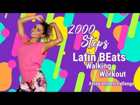 2000 Steps in 20 Minutes | #STEPtember Challenge ��1.5 Mile LIT Walking Workout | LATIN BEATS������