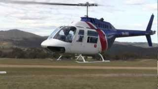 Bell 206 low pass and a little helicopter magic in Jindabyne, Australia